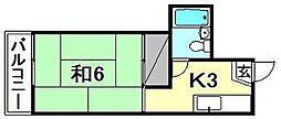 コーポ木馬館[203 号室号室]の間取り