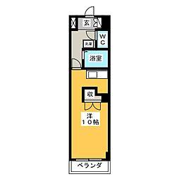 エステート柳原[3階]の間取り