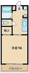 大阪府東大阪市西石切町の賃貸マンションの間取り