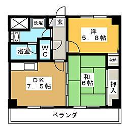 タマヤマンション[4階]の間取り