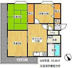 ライオンズマンション東戸塚(ライオンズマンションヒガシトツカ[2階]の間取り