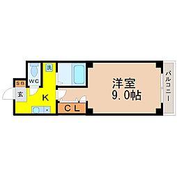 エクセレント栄光[4階]の間取り