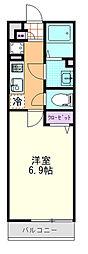 埼玉県さいたま市浦和区針ヶ谷2の賃貸マンションの間取り
