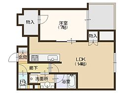 パークタワー大阪中之島フロント[6階]の間取り