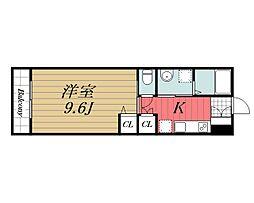 JR東金線 東金駅 徒歩4分の賃貸アパート 1階1Kの間取り