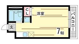 兵庫県神戸市中央区国香通6丁目の賃貸アパートの間取り