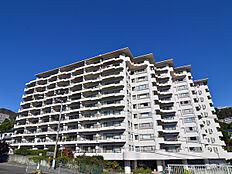 伊豆山の土地に立地する100世帯超えマンション