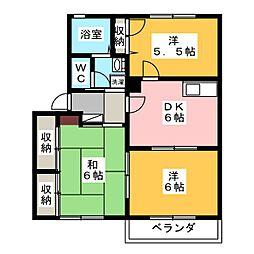 パインツリー1・2・3[2階]の間取り