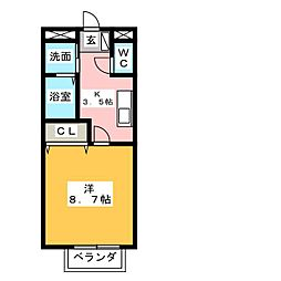 フジハイツII[3階]の間取り