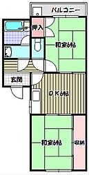 陵南パークハウス[2階]の間取り