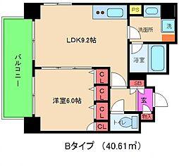 レジェンドール大阪天満[8階]の間取り