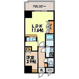 長崎県長崎市泉3丁目の賃貸マンションの間取り