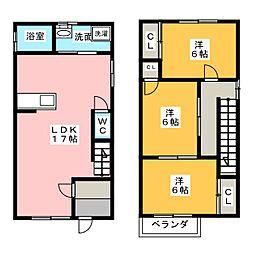 [一戸建] 愛知県名古屋市北区楠味鋺3丁目 の賃貸【/】の間取り