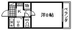 宝山野田タウン[207号室]の間取り