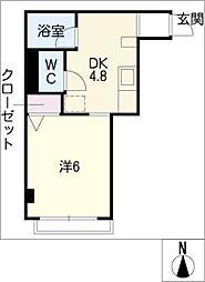 かむろビル東館[4階]の間取り