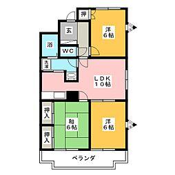 エクセル宮田[4階]の間取り