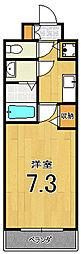 アスヴェル京都壬生WEST206[2階]の間取り