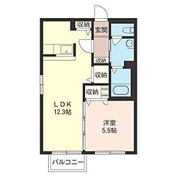 シャーメゾン東千葉[2階]の間取り