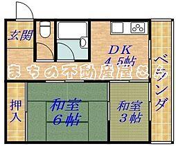 川庄ハイツ[3階]の間取り