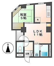 愛知県名古屋市北区大杉3丁目の賃貸マンションの間取り