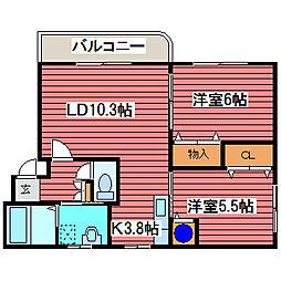 アトレ福住[2階]の間取り