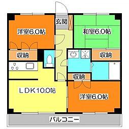JUNラークマンション浅間[2階]の間取り