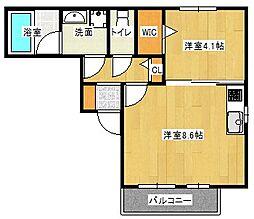 京阪本線 守口市駅 徒歩4分の賃貸アパート 1階1LDKの間取り