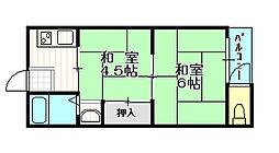 太陽マンション[2階]の間取り