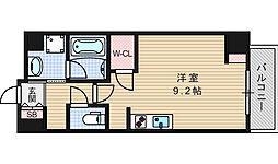 エスパシオ・コモド大阪新町[405号室]の間取り