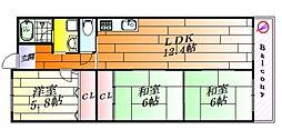 メゾンドールII[2階]の間取り
