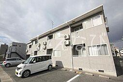 岡山県岡山市北区西古松1丁目の賃貸アパートの外観