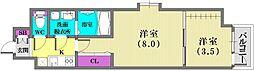 ユニバーサルビル・アネックス[3階]の間取り