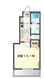 岡山県岡山市中区兼基の賃貸アパートの間取り