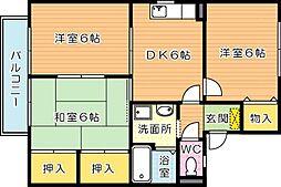 セジュール鴨生田D棟[2階]の間取り