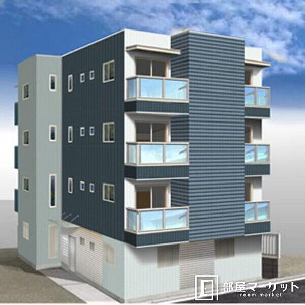 愛知県岡崎市柱町の賃貸マンションの外観
