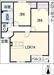 M&COOPER I[2階]の間取り