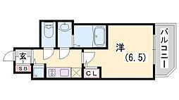 ファーストフィオーレ神戸駅前[7階]の間取り