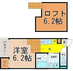 愛知県名古屋市南区寺崎町の賃貸アパートの間取り