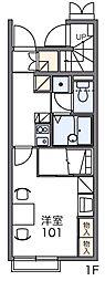 レオパレスビリーブロード[1階]の間取り