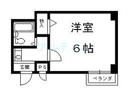 京都府京都市東山区正面町の賃貸マンションの間取り