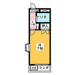 リバーサイド塩釜[2階]の間取り