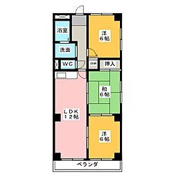 スカイヒルズKawai[3階]の間取り