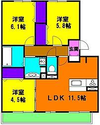 静岡県浜松市東区原島町の賃貸アパートの間取り