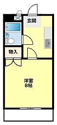 愛知県豊田市前山町4丁目の賃貸マンションの間取り