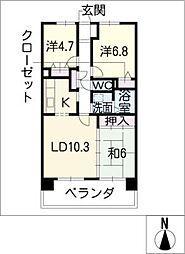 サンコート桃花台 A棟[8階]の間取り