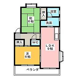 プロムナードA・B・C[2階]の間取り