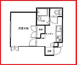 東京都北区西ケ原4の賃貸アパートの間取り