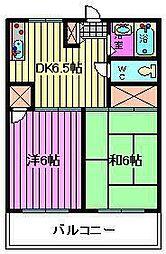 川口ハウス[302号室]の間取り