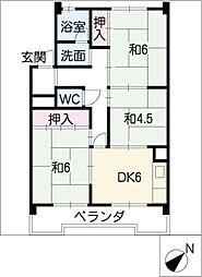 アイワコーポ[4階]の間取り