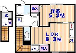 Domani S (ドマーニ エス)[203号室]の間取り